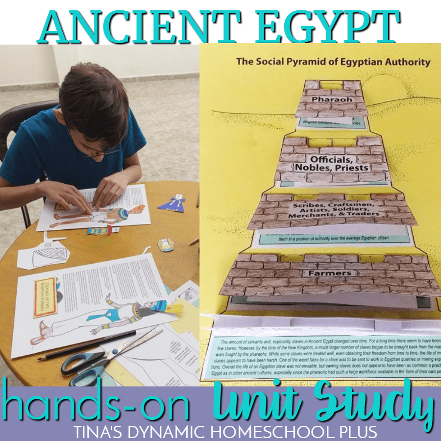 Ancient Egypt is a great civilization to study for Ancient History. Your kids will love this hands-on Ancient Egypt history study with many activities for multiple ages to choose from. CLICK HERE!