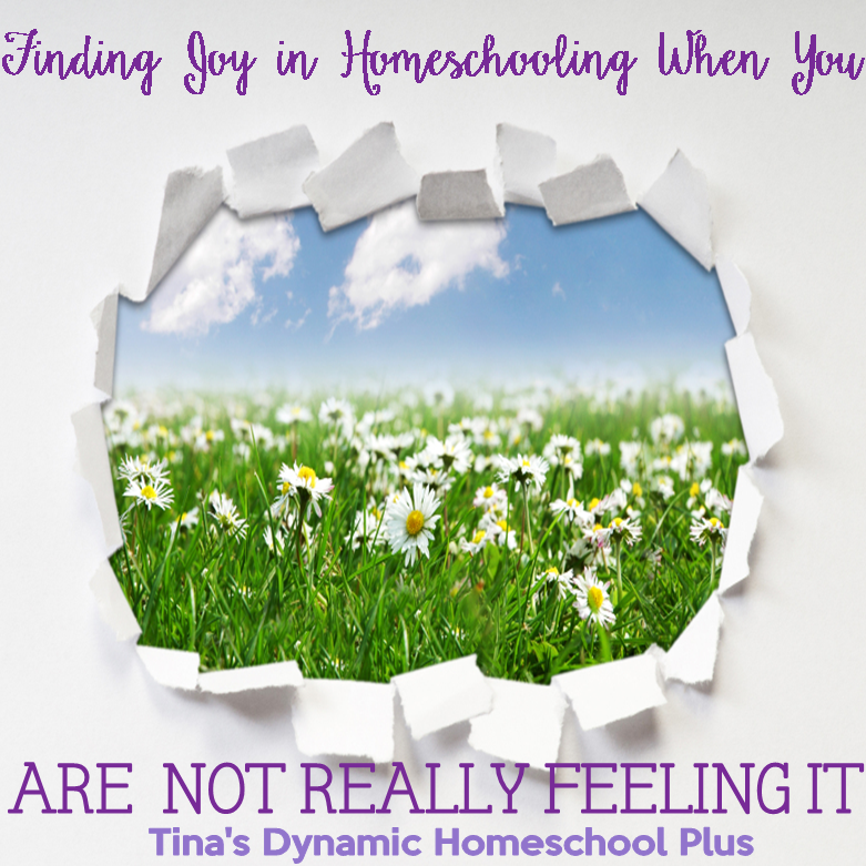 Finding Joy In Homeschooling When You Are Not Really Feeling It @ Tina's Dynamic Homeschool Plus