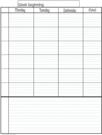 Student Planner 15 min increments editable 1