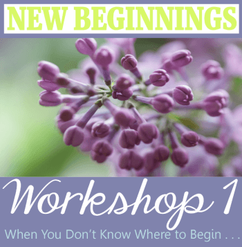 Workshop 1 New Beginnings Header350x