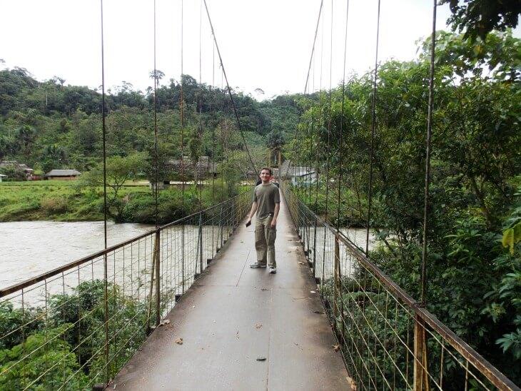 11 crossing the swaying bridge to the Amazon Community
