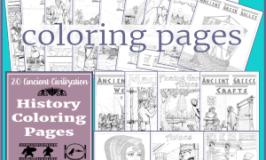 20 Ancient Civilization History Coloring Pages
