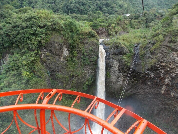 3 My view from the cable car over the waterfalls