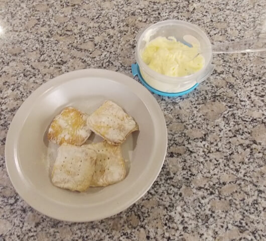 Hardtack and butter 7