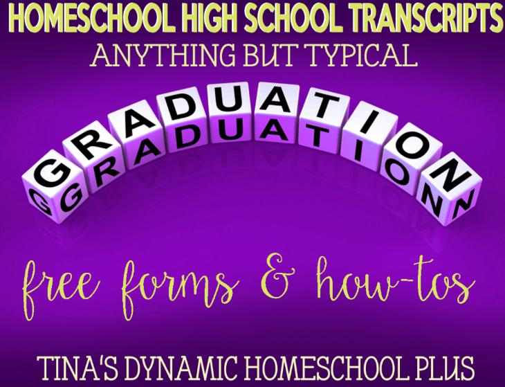 Homeschool High School Transcripts @ Tina's Dynamic Homeschool Plus