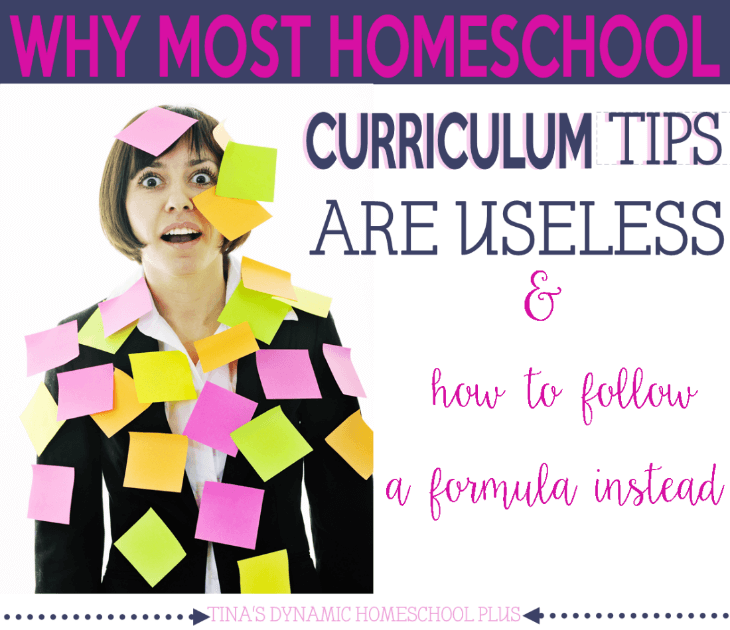 Why Most Homeschool Curriculum Tips are Useless @ Tina's Dynamic Homeschool Plus
