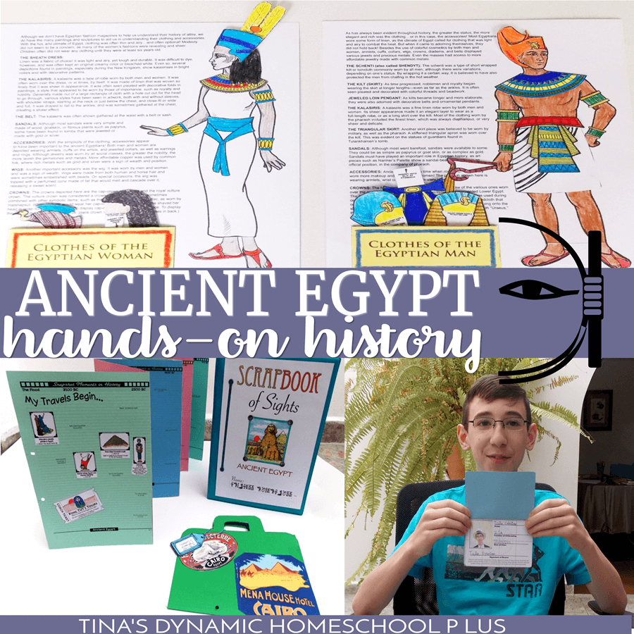 Your kids will love this Hands-on Ancient Egypt Unit Study at Tina's Dynamic Homeschool Plus