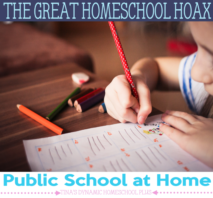 The Great Homeschool Hoax - Public School at Home @ Tina's Dynamic Homeschool Plus
