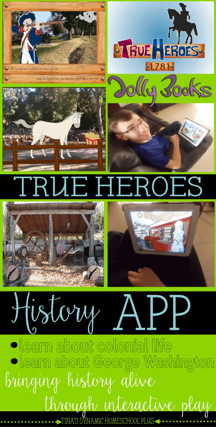 True Heroes History App Homeschool Review @ Tina's Dynamic Homeschool Plus