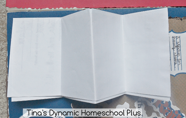 2. Fold the worksheet in half longways @ Tina's Dynamic Homeschool Plus
