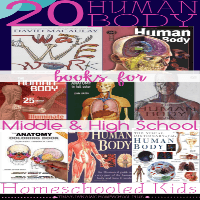20 Human Body Books for Middle and High School Homeschooled Kids @ Tina's Dynamic Homeschool Plus featured
