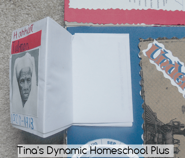 3. Accordion fold and put outside cover on minibook @ Tina's Dynamic Homeschool Plus
