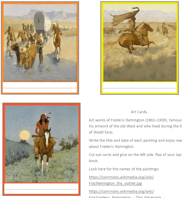 American History Period Art Late 1800 Early 1900s 1 @ Tina's Dynamic Homeschool Plus -1