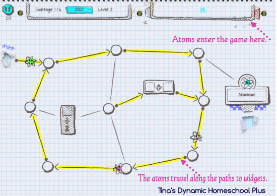 Atomidoodle Chemistry Game App 1 @ Tina's Dynamic Homeschool Plus