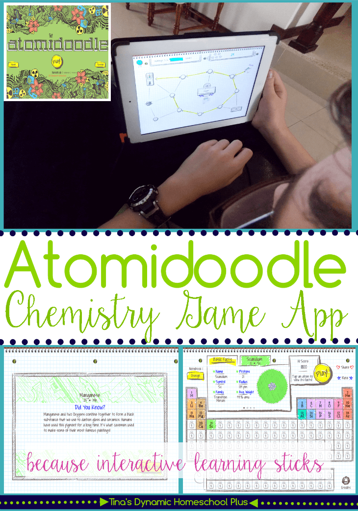 Atomidoodle Chemistry Game App @ Tina's Dynamic Homeschool Plus