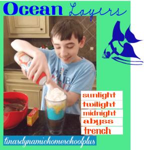 Yum. Edible Ocean Layers @ Tina's Dynamic Homeschool Plus