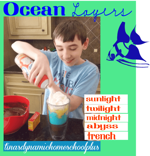 Yum. Edible Ocean Layers @ Tina's Dynamic Homeschool Plus