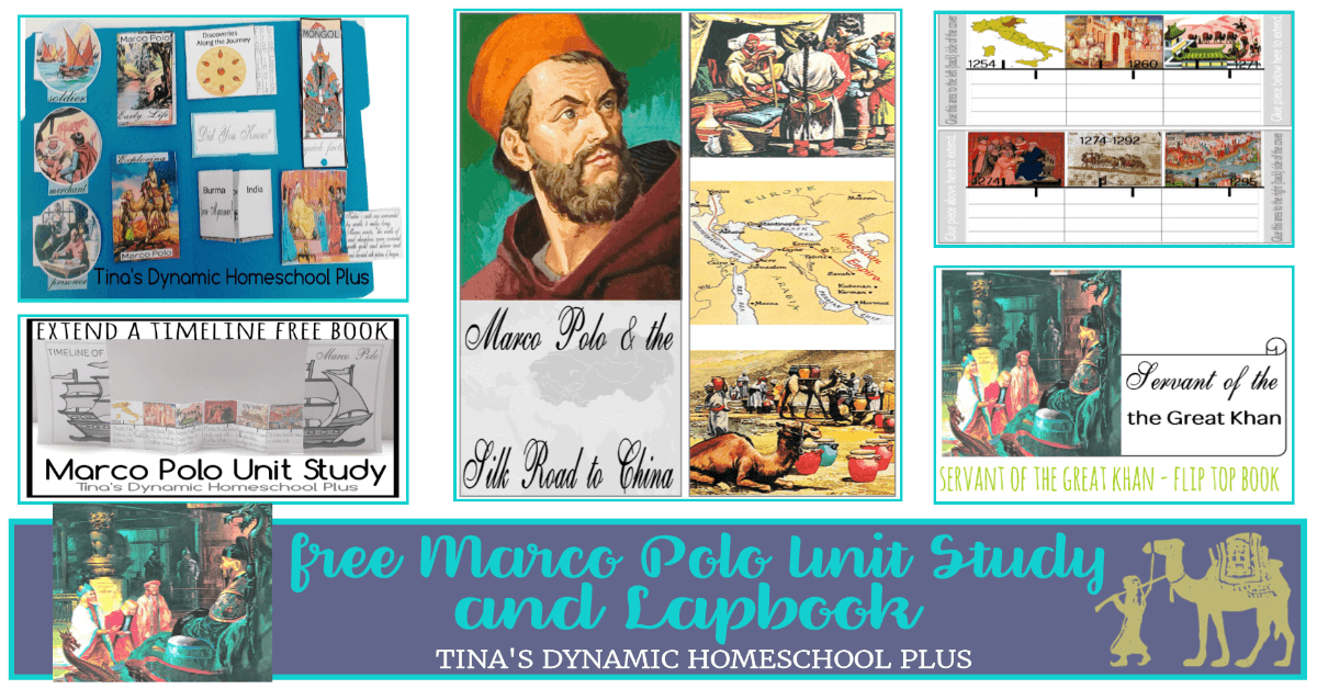 Free Marco Polo Lapbook and homeschool unit study! Click here to grab them.