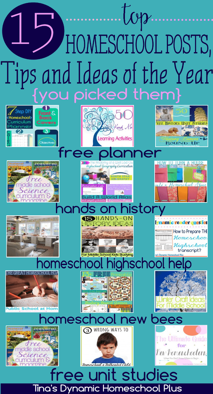 15 Top Homeschool Posts, Tips and Ideas of the Year – You Picked Them Tina's Dynamic Homeschool Plus