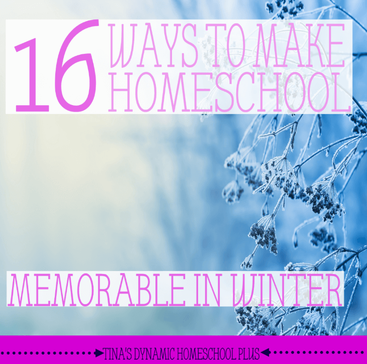 16 Ways to Make Homeschool Memorable During Winter @ Tina's Dynamic Homeschool Plus