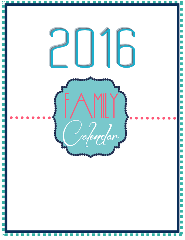 2016 DIY Calendar Page @ Tina's Dynamic Homeschool Plus