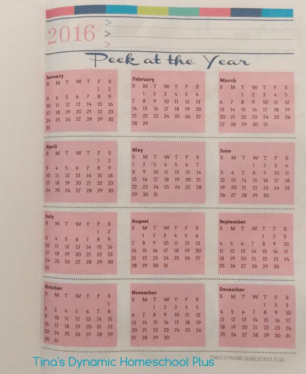 2016 Free Printable Calendar Page