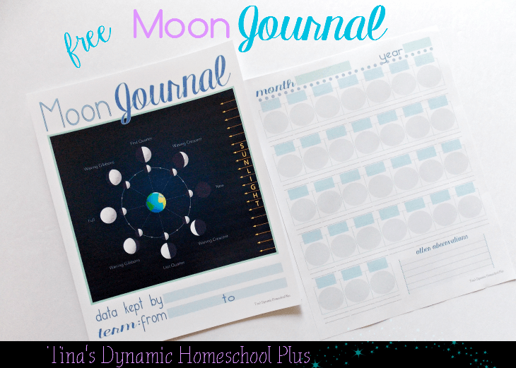 Free Moon Journal - Hands on homeschool science.