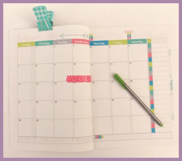 Inside DIY calendar