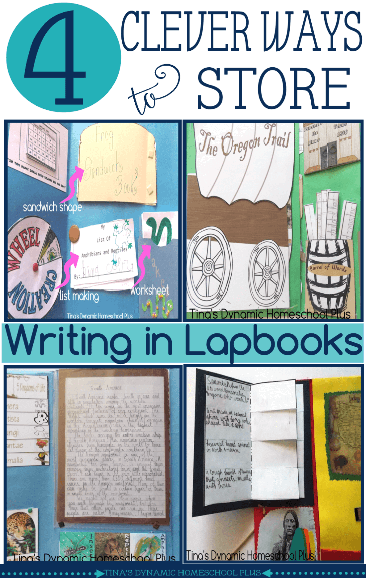 4 Clever Ways to Store Writing in Lapbooks @ Tina's Dynamic Homeschool Plus