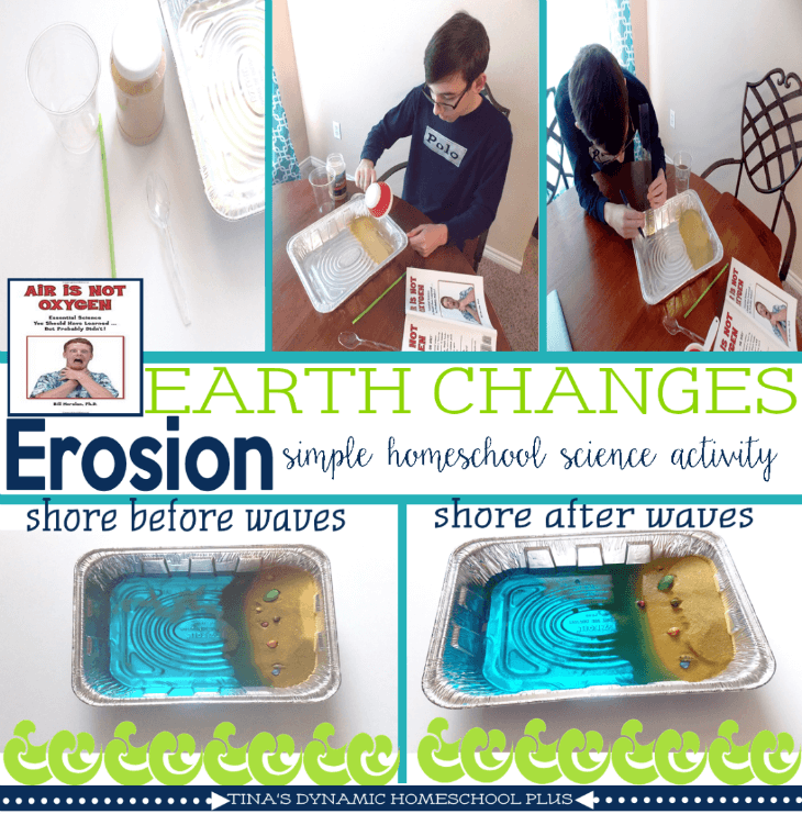 Easy hands-on homeschool earth science activity @ Tina's Dynamic Homeschool Plus