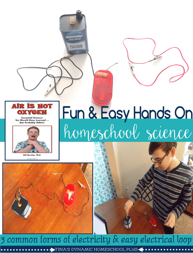 Easy hands-on homeschool electricity science activity @ Tina's Dynamic Homeschool Plus