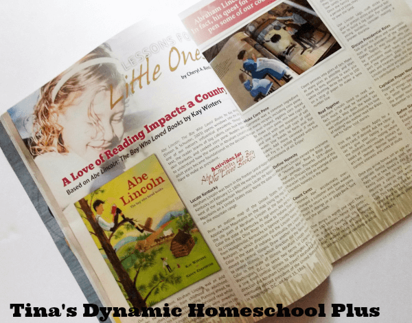 Ready made lessons in Homeschooling Today @ Tina's Dynamic Homeschool Plus