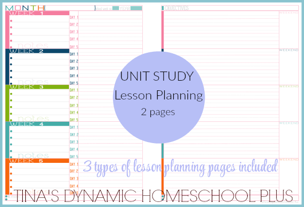 Tracking Monthly Lesson Plans 1