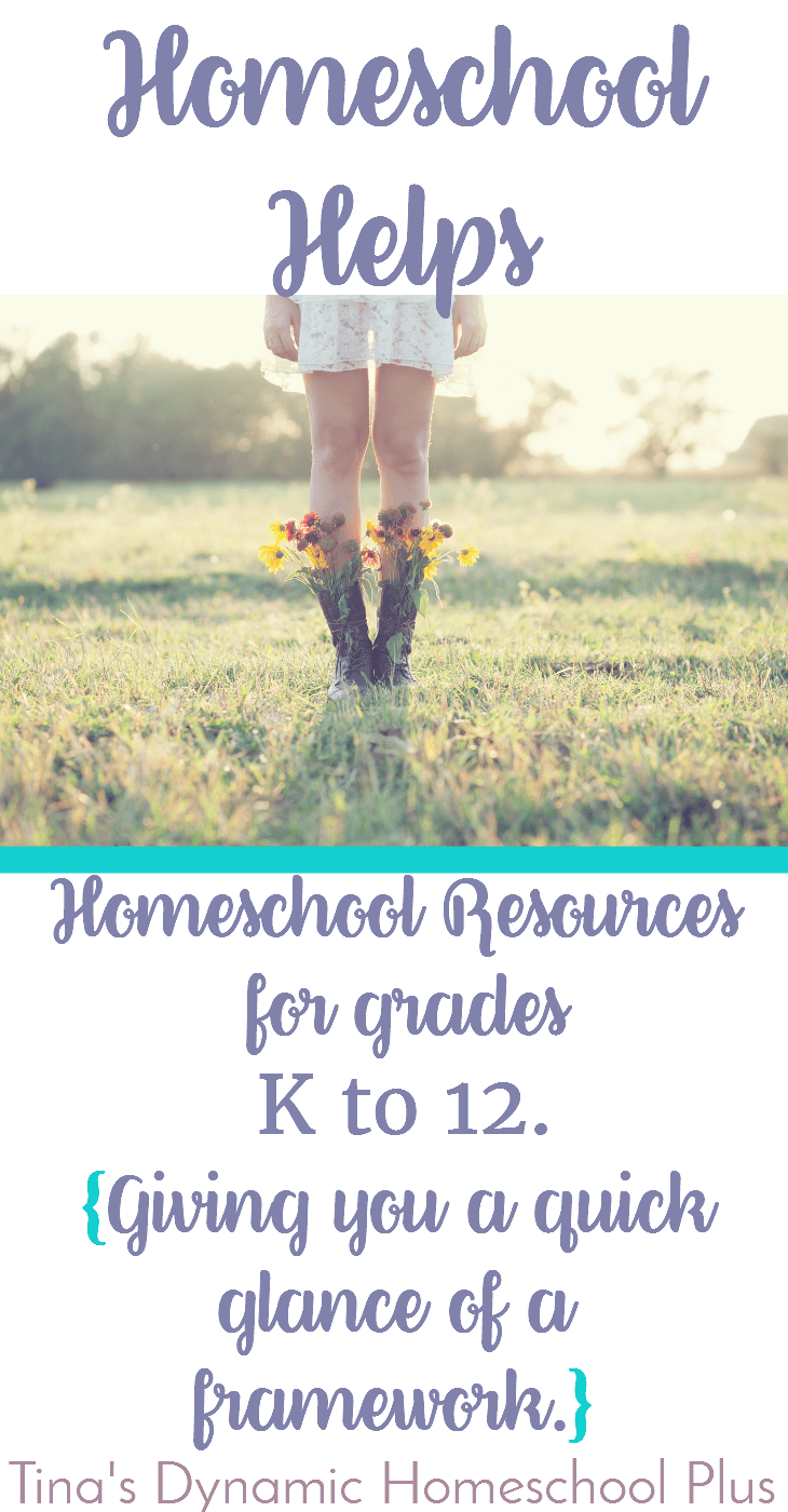 Sometimes you need a framework of curriculum to look at a glance. It gives you an idea of what you may need while homeschooling grades K to 12. Check out the HELPFUL resources. Click here.