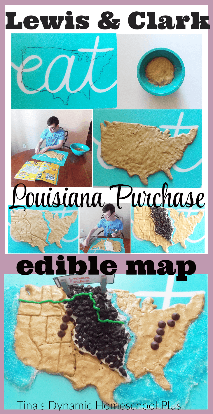 lewis and clark louisiana purchase edible map. Black Bedroom Furniture Sets. Home Design Ideas