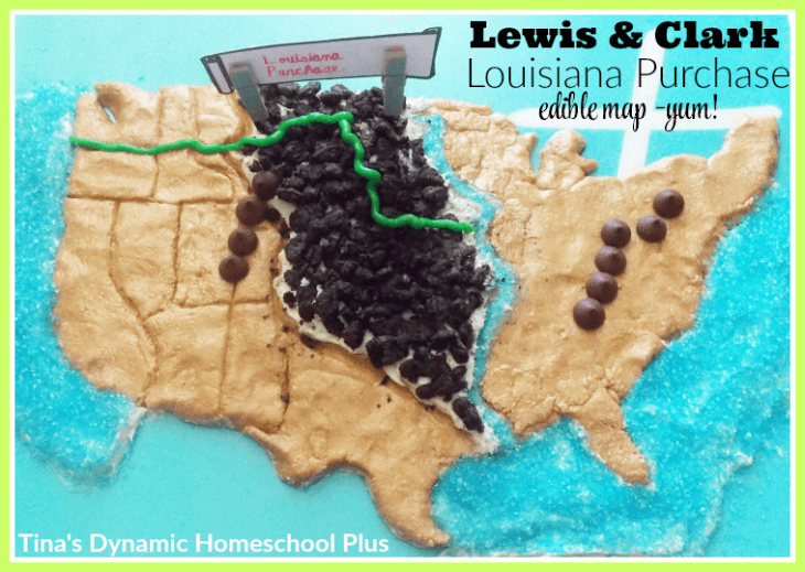 Lewis and Clark hands-on history. Make a fun edible map @ Tina's Dynamic Homeschool Plus