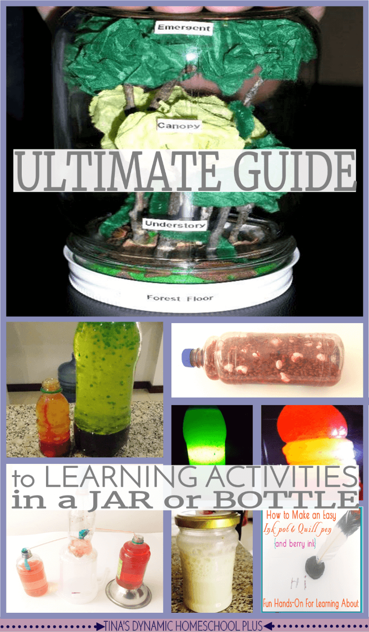 The Ultimate Guide to Learning Activities in a Jar or Bottle @ Tina's Dynamic Homeschool Plus