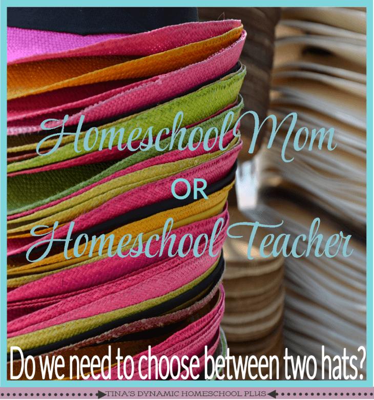The Problem Choosing Between Homeschool Mom and Homeschool Teacher @ Tina's Dynamic Homeschool Plus