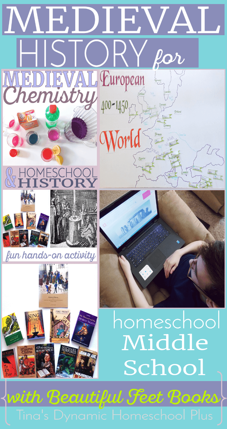 Medieval History for Homeschool Middle School using Beautiful Feet Books or history living books @ Tina's Dynamic Homeschool Plus