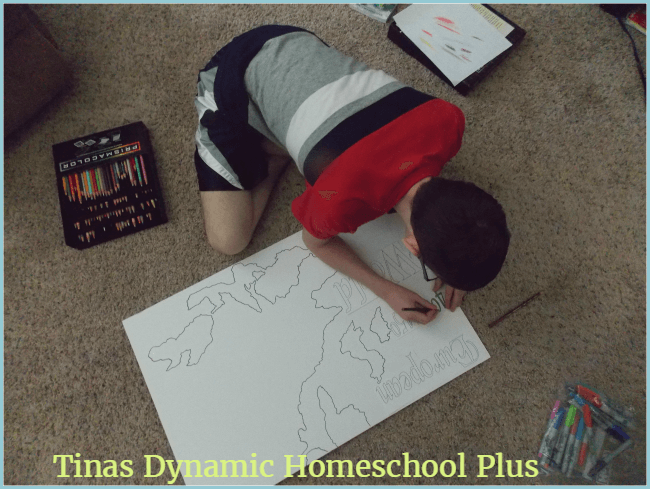 Medieval map work using living literature @ Tina's Dynamic Homeschool Plus