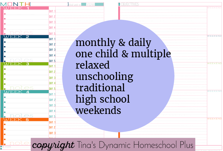 Extremely flexible homeschool lesson planning @ Tina's Dynamic Homeschool Plus