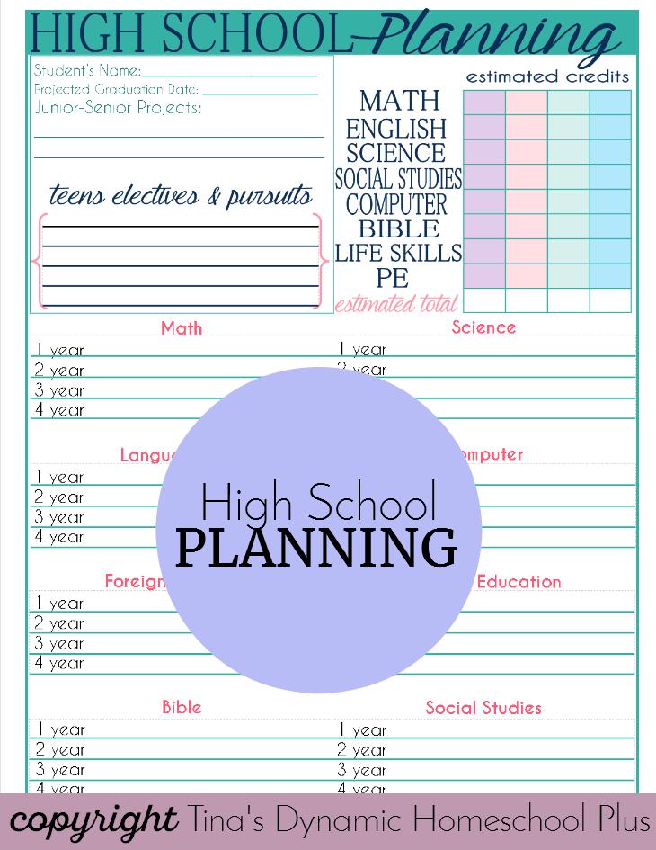 High School Planning @ Tina's Dynamic Homeschool Plus