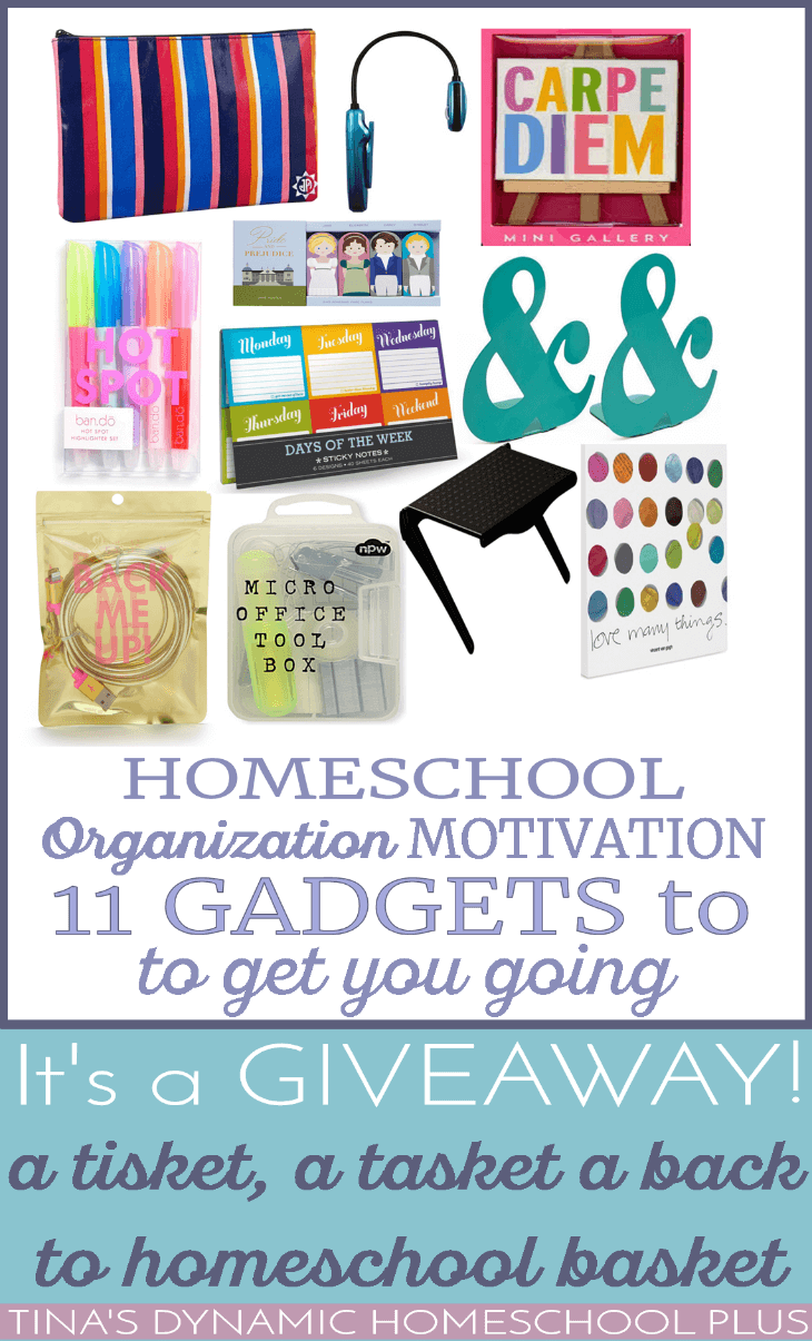 Homeschool Organization Motivation - 11 Gadgets To Get You Going @ Tina's Dynamic Homeschool Plus