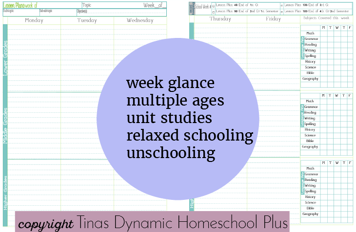 Homeschool Unit Study Lesson Planning @ Tina's Dynamic Homeschool Plus
