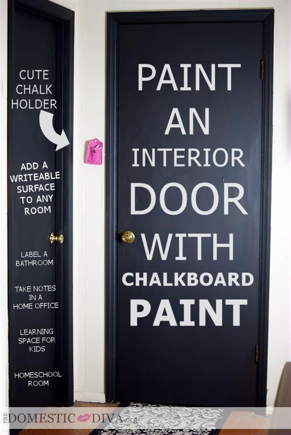 paintaninteriordoorwithchalkboardpaintforhomeofficehomeschoolroombathroomkidsroombedroom