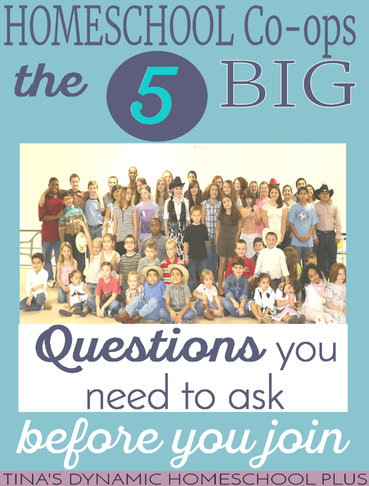 Homeschool Co-op The 5 BIG Questions You Need to Ask @ Tina's Dynamic Homeschool Plus