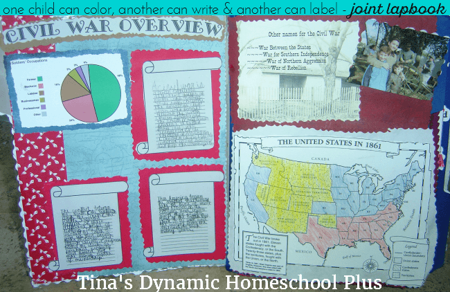 Joint Civil War Lapbook @ Tina's Dynamic Homeschool Plus