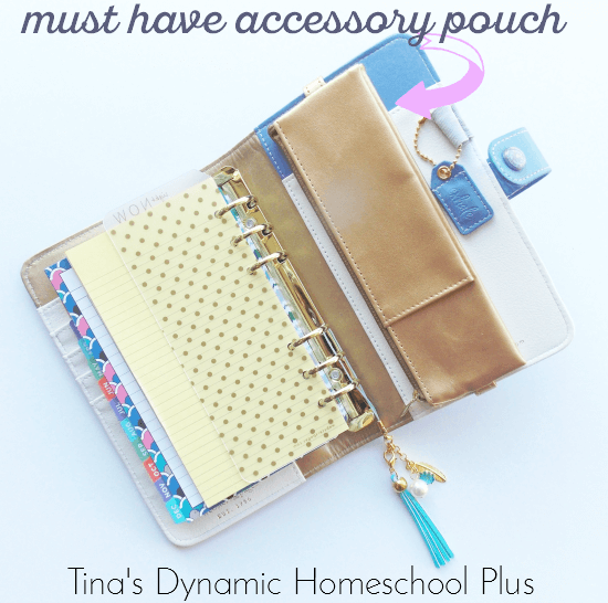 Must have accessory pouch for a personal planner @ Tina's Dynamic Homeschool Plus