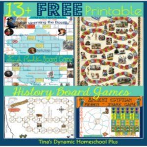 13 Free Printable History Board Games | Tina's Dynamic Homeschool Plus
