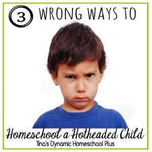 3 Wrong Ways to Homeschool a Hotheaded Child | Tina's Dynamic Homeschool Plus
